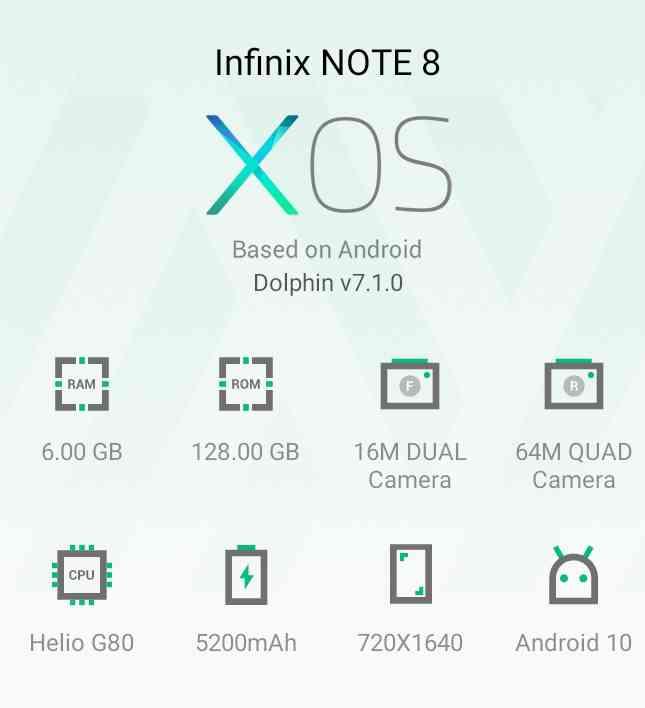 Infinix not8